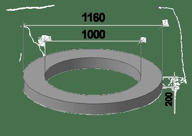Доборные ЖБИ кольца колодца