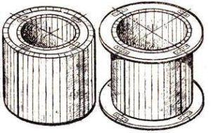Форма для выливания колец из ЖБ круглой формы