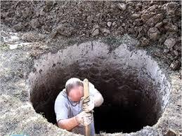 Копка шахты вручную