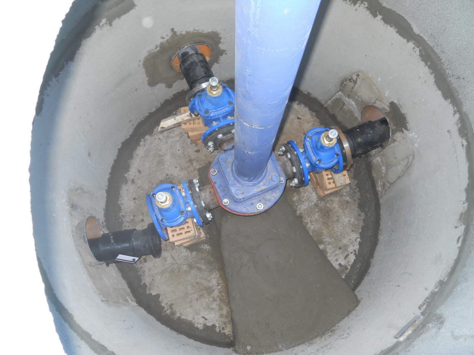 Схема установки пож гидрантов
