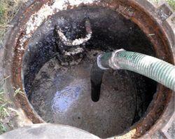 Откачка сточных вод из колодца