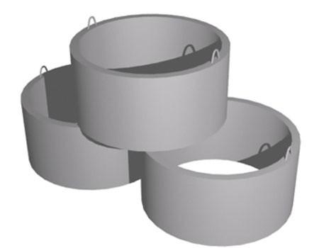 Простые стеновые ЖБИ кольца для колодцев