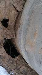 Провалы грунта вокруг нового колодца