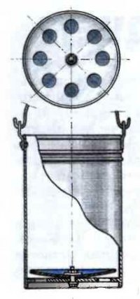 Схема устройства клапана для колодезного ведра