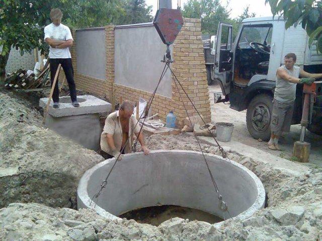 Установка стенового кольца