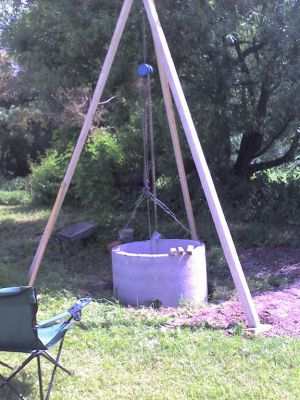 Копка колодца на загородном участке
