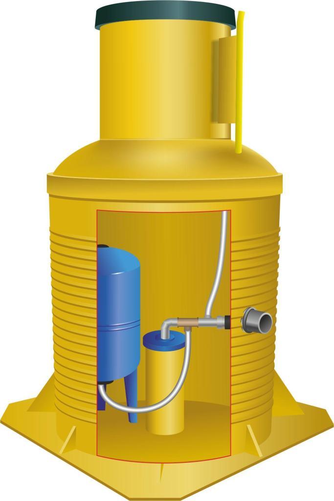 Пример пластикового кессона для скважины