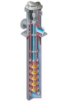 Пятиступенчатый насос скважинный центробежный
