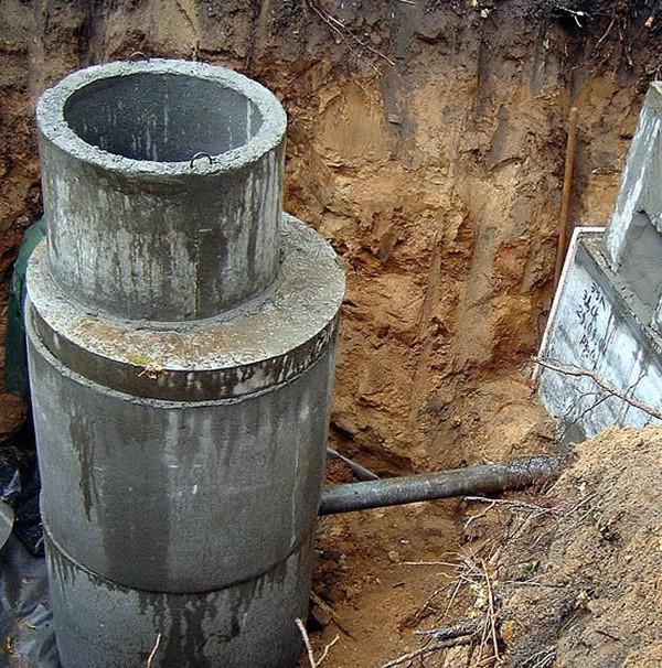 Установка септиков из бетонных колец для 40