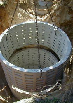 Изготовление фильтрующего колодца из бетона