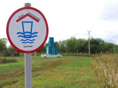 Знак границы санитарной зоны