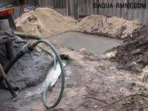 Отвод грязной воды от скважины при прокачке