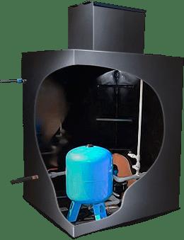 Скважинный кессон монтируется, когда нет возможности разместить оборудование в доме