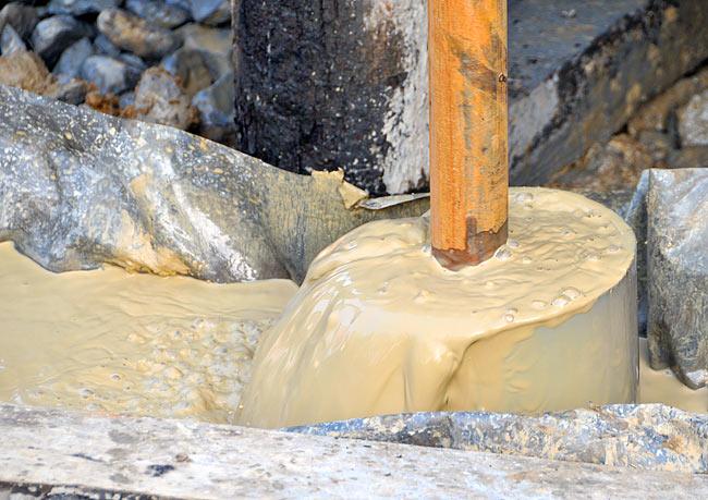 Промывка скважины раствором бентонитовой глины