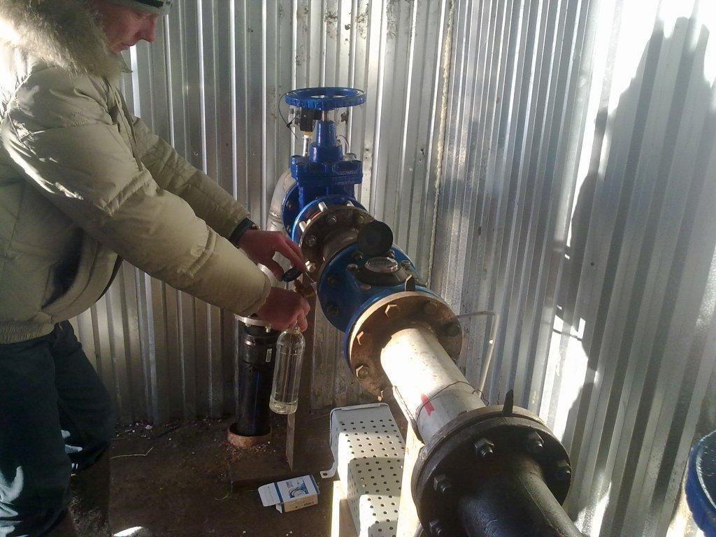 Забор пробы воды на анализ