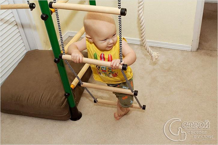 Вот так можно использовать верёвочную лестницу