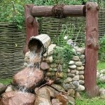 Колодец с фонтаном