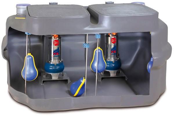 Канализационная насосная станция с погружным насосом