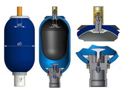 Общий вид гидроаккумулятора