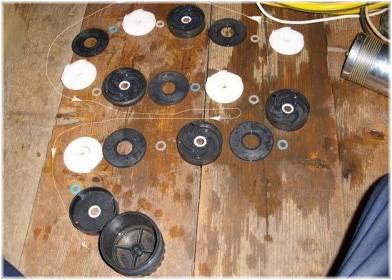 Порядок расположения дисков в крыльчатке