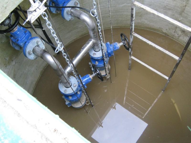 Повысительная станция в ливневой канализационной системе