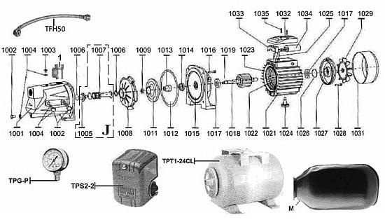 Схема подсоединения деталей оборудования
