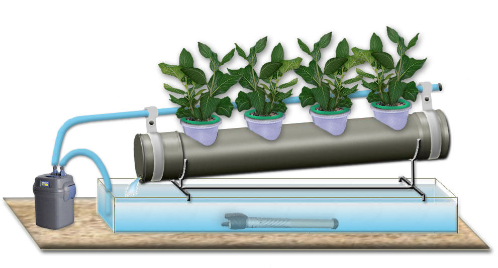 Устройство поверхностного насоса для гидропоники
