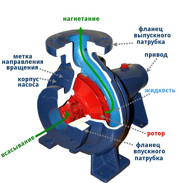 Устройство центробежного насоса насоса
