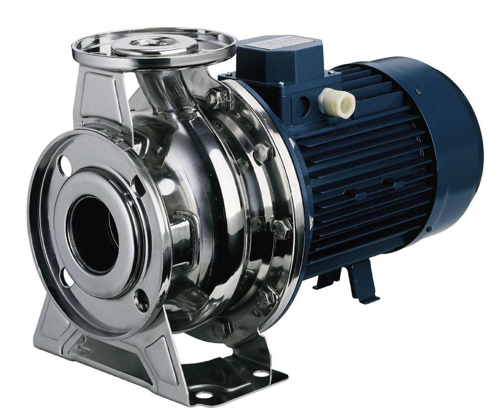 Насос, двигатель которого присоединён с помощью муфты