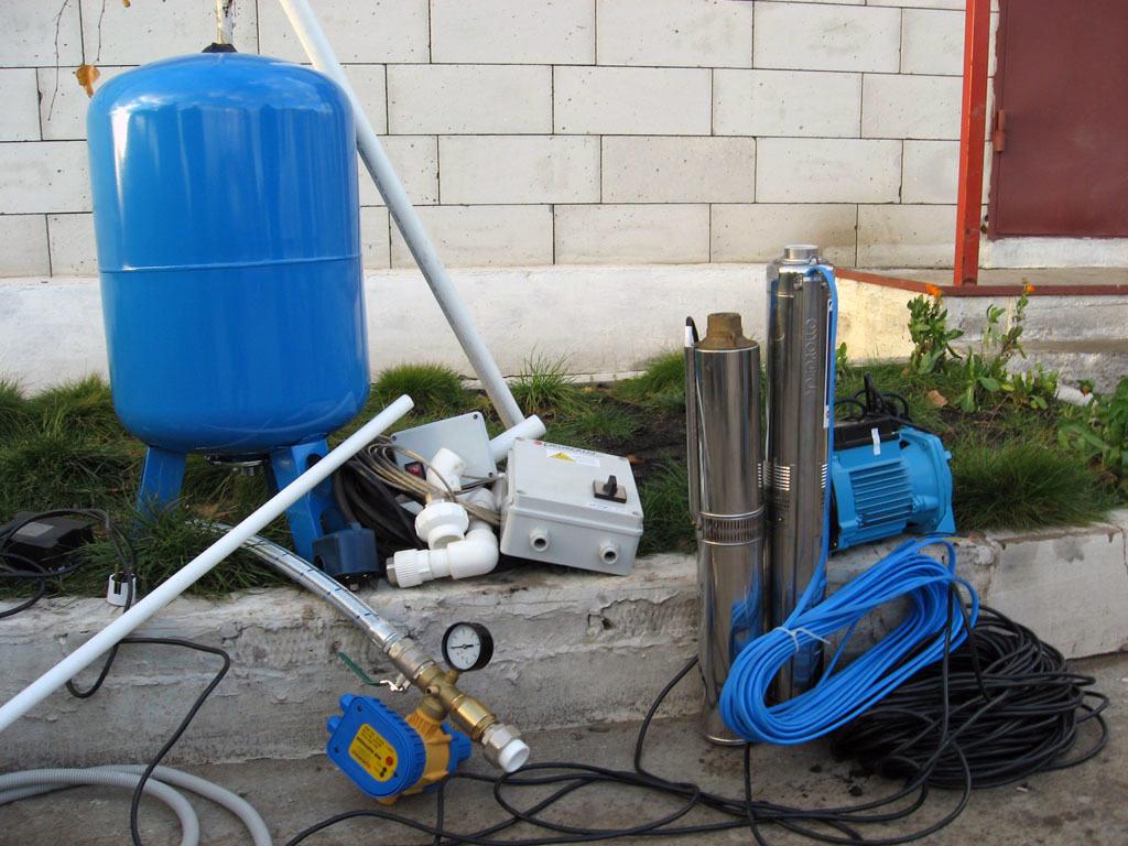 схема включения погружной насос и гидроаккумулятор