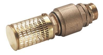 На фото – обратный клапан с сетчатым фильтром