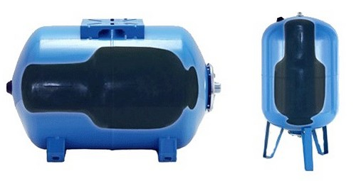 На фото показано устройство гидроаккумулятора