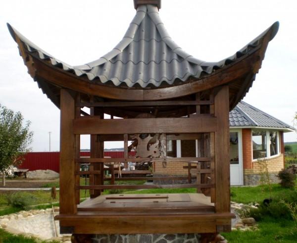Дизайн колодца в японском стиле