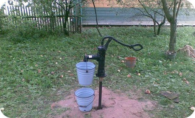 Поршневые насосы качают воду с небольшой глубины.