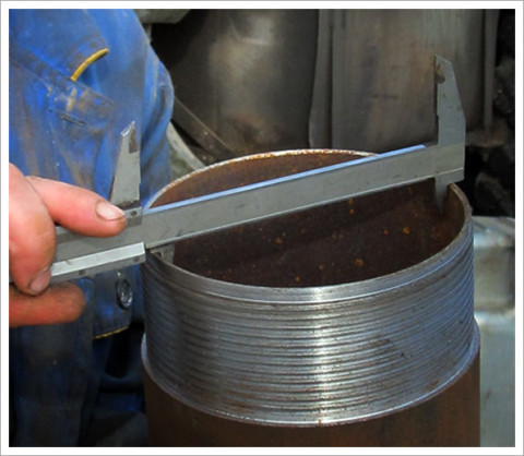 Измерение диаметра трубы
