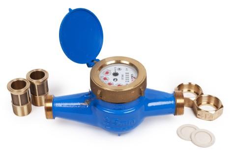 Двухструйный сухоходный счётчик холодного водоснабжения