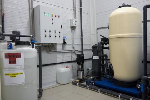 Техническое помещение оборотного водоснабжения на автомойке