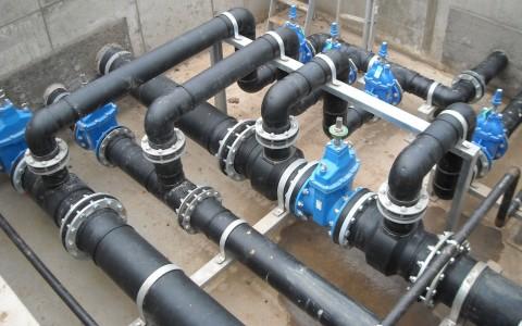 Разводка труб производственного водопровода