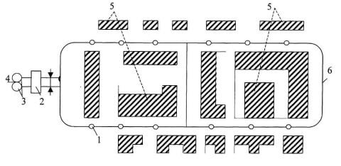 Схематичное изображение кольцевого водопровода