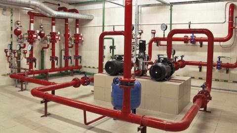 Отдельный пожарный водопровод на предприятии