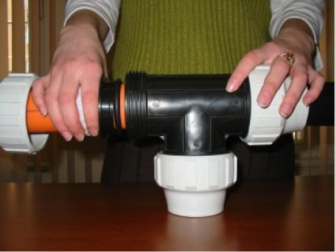 Самые крупные компрессионные фитинги предназначены для труб диаметром 110 мм