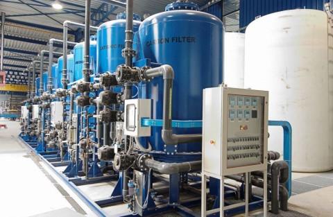 Система оборотного водоснабжения и очистки воды в промышленном масштабе