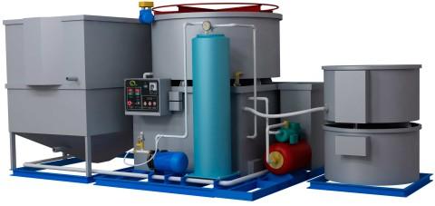 Установка для очистки воды в бессточной системе