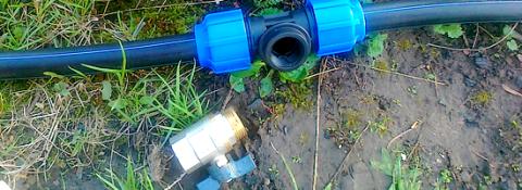 Водопровод с резьбовым соединением необходимо продувать
