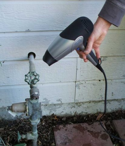 Размораживание водопровода