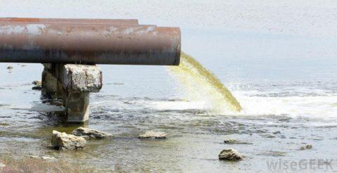 Сброс воды в водоем
