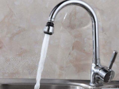Аэратор делает струю объемной при минимальном расходе воды