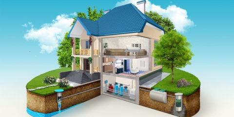 Дом с автономными канализацией и водоснабжением