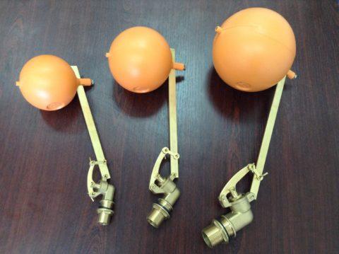 Латунные заливные клапаны трех типоразмеров