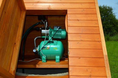 Подача воды из колодцев и мелких скважин осуществляется поверхностными или погружными насосами